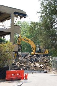 Demolition at AU Tenley Campus