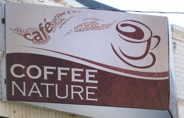 Coffee Nature Sign