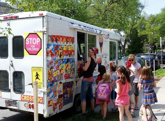 Ice cream man at Janney Elementary