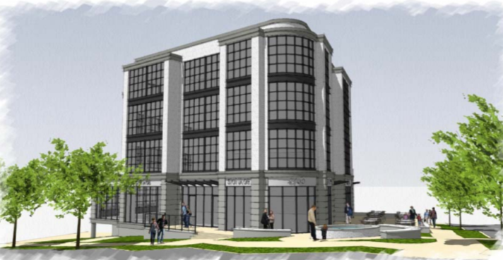 rendering of 4700 Wisconsin Avenue from BZA application