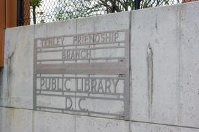 original Tenley-Friendship Library sign