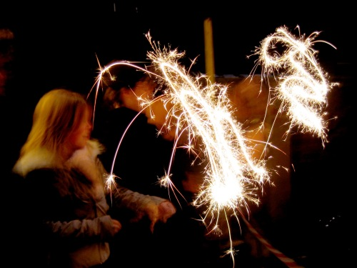 Kids with sparklers