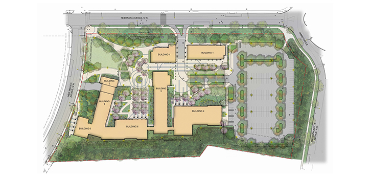 East Campus map - courtesy American University
