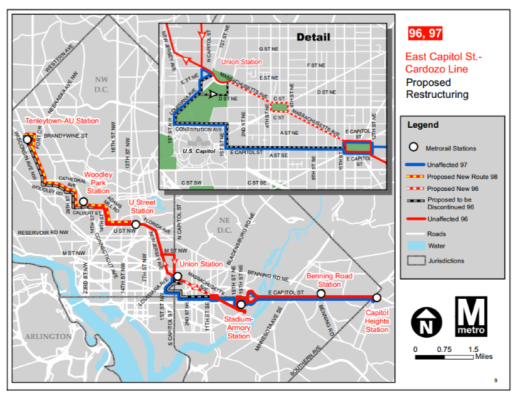 bus line change map