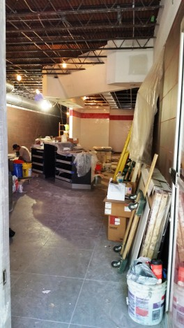 Jimmy Johns interior work 9-26-14