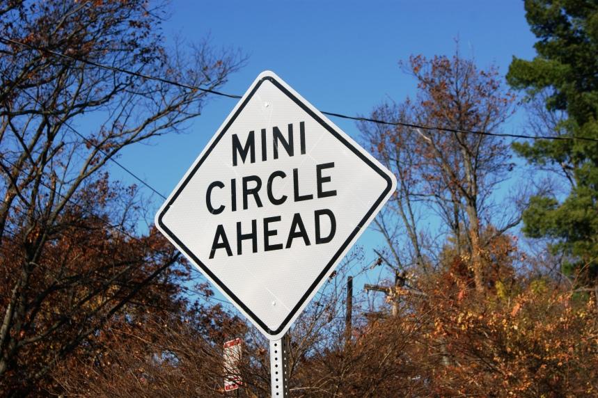 Traffic Circle Sign