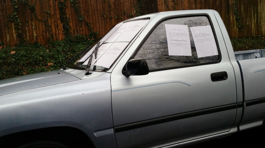 car parking notices