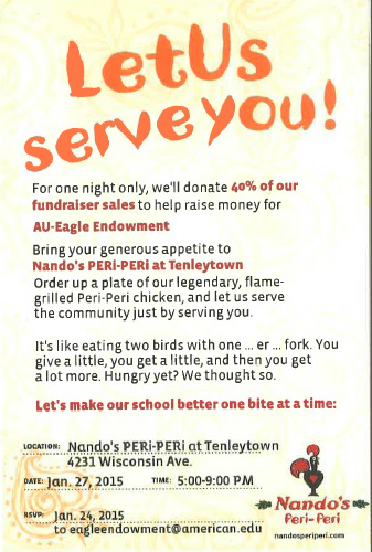 Nando's Flyer for Eagle Endowment