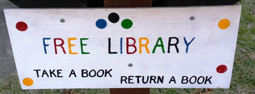 Free Library sign 4108 Garrison Street