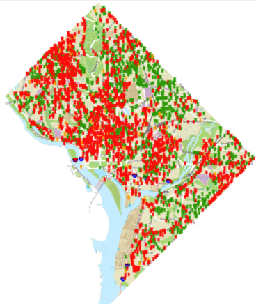 DC Pothole Map - 3-25-15