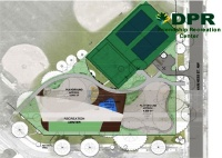 Proposed layout of new Friendship Recreation Center courtesy of the Department of General Services
