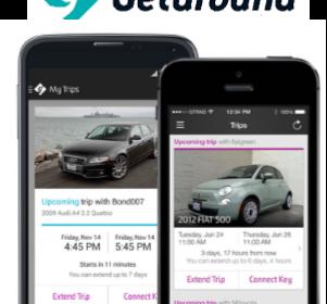 Getaround car sharing app