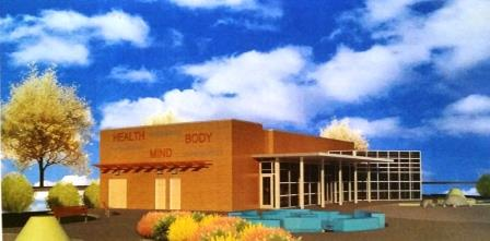 Rendering of one potential design for community center - courtesy of DGS and DPR