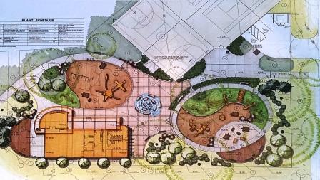 Planned layout for Turtle Park - courtesy of DGS and DPR
