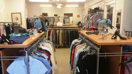 Racks inside Sequels consignment