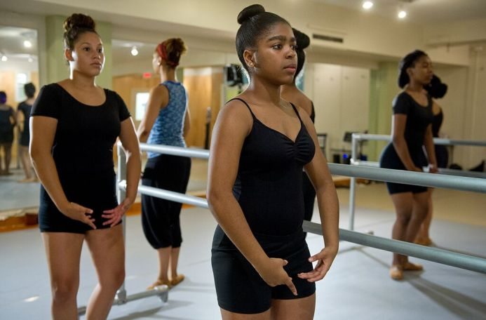 DREAM Alumni take ballet at CityDance's Tenleytown studio.