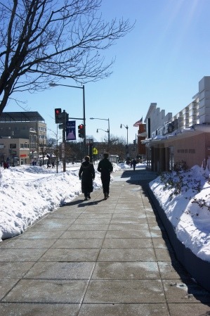 Sidewalks around Best Buy Tenleytown