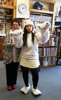 Middle C Music owner Myrna Sislen and the Tenley Yeti